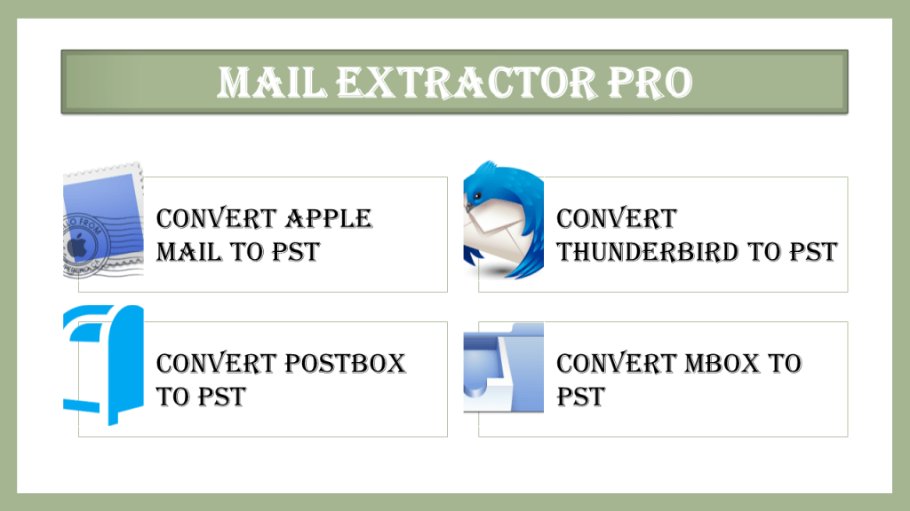 Convert Thunderbird mail to Outlook PST