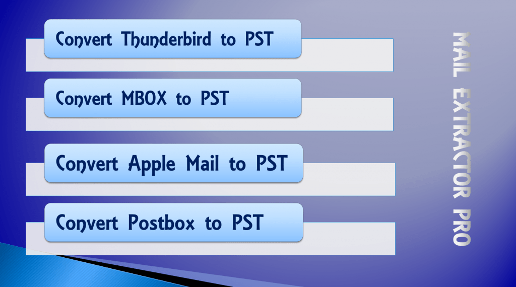 Thunderbird to pst